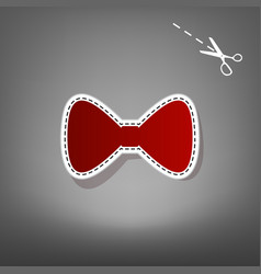 Bow tie icon red icon with for applique vector