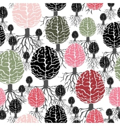 brain with roots seamless abstract backdrop vector image
