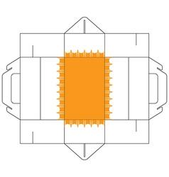 Cake Box Rectangular Vector