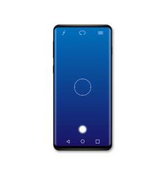 camera screen mobile cellphone interface vector image