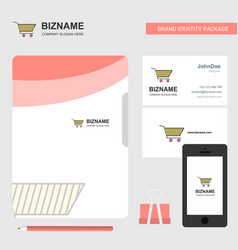 cart business logo file cover visiting card and vector image