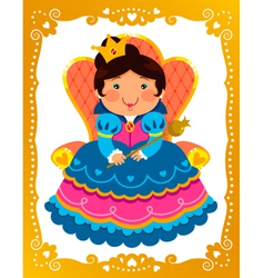 cartoon queen vector image