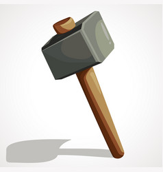 cartoon sledge hammer vector image