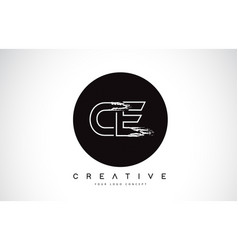 Ce modern leter logo design with black and white vector