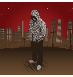 city hoody vector image