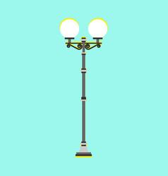 city street lamp isolated flat style vector image