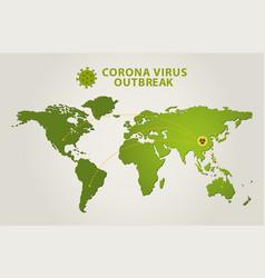 Corona virus outbreak world map spread covid-19 vector