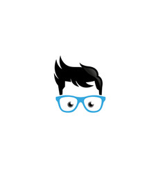 Creative geek glasses logo design symbol vector