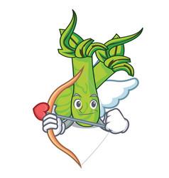 Cupid wasabi character cartoon style vector