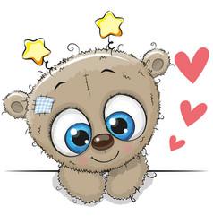 Cute cartoon teddy bear vector