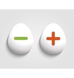 Egg button vector image