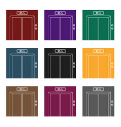 elevator icon in black style isolated on white vector image