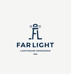 Far light abstract sign symbol or logo vector