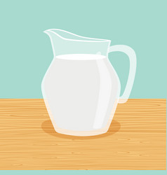 farm milk carafe on the table vector image