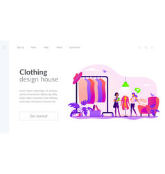 Fashion house landing page template vector