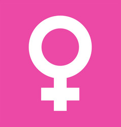 female symbol in pink color background female vector image
