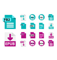 file format extensions icons collection vector image