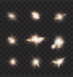 flares flashes light effects set vector image