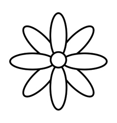Flower isolated icon design vector