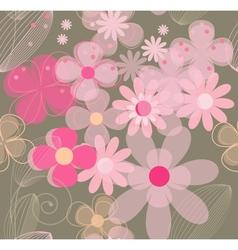 Flower vintage seamless background vector