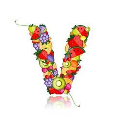 Fruit letter for your design vector