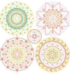 Geometric mandala in pastel colors vector image