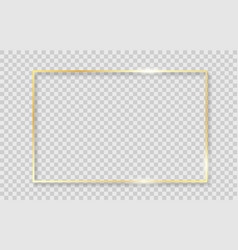 Gold shiny glowing frame vector