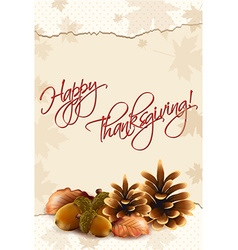 Happy thanksgiving day with acorn vector