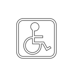 Isolated wheelchair inside frame design vector image