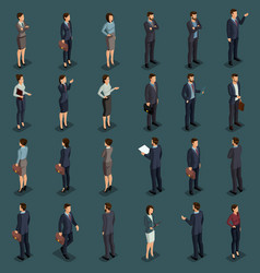 isometric people isometric businessmen vector image