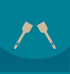 kitchen spatula icon for cook accessory vector image