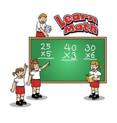 Learn math at elementary school vector
