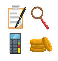 money insurance business finance concept vector image