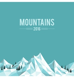 Mountain top white vector