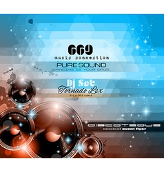 Music Themed background for Disco Club Flyers vector image