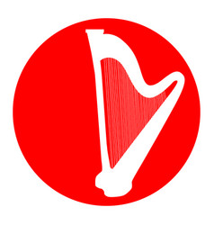 musical instrument harp sign white icon vector image