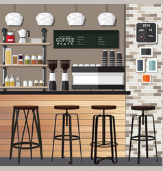 New coffee shop vector