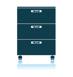 Office cabinet icon vector