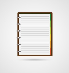 open blank notebook and reminder note vector image