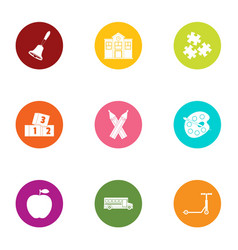 Parturition icons set flat style vector
