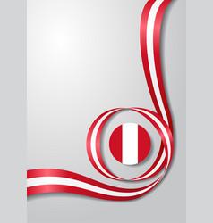 Peruvian flag wavy background vector