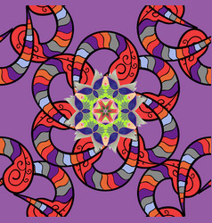 Purple black and red colors colored mandalas vector