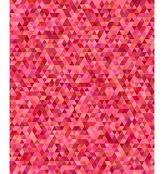 Red regular triangle mosaic background design vector image
