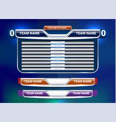 Scoreboard lower third vector