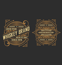 Set of labels western style vector