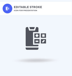 smartphone icon filled flat sign solid vector image