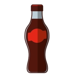 soda bottle isolated icon vector image
