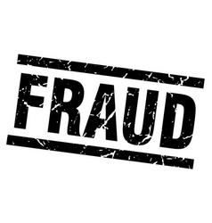 Square grunge black fraud stamp vector