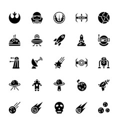 Star wars glyph icon pack vector