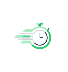 Stop watch flat icon time concept vector